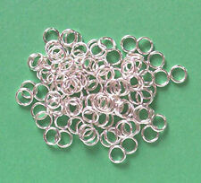 100 silver plated 6mm split rings, findings for jewellery making crafts