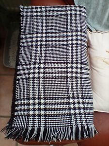 Black White Checked Houndstooth reversable Scarf