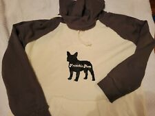 NWOT Blue 84 Charcoal & Cream Pullover Hoodie Top Small