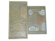 Vintage Antique Holman Bible Jehovah King James Newspaper Printing Plates 2 pcs
