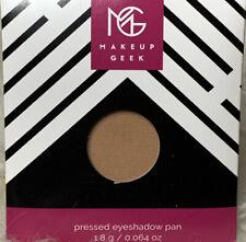 """BNIP Makeup Geek Eye Shadow ~ """"CREME BRULEE""""~ Single Round Pan"""