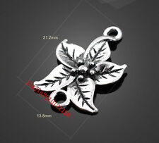 PJ607 15pc Retro Tibetan Silver( connector flowers)Jewelry Accessories wholesale