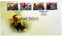 """2014 FDC Australia. Bush Ballads Banjo Paterson. P&S. """"Quill Pen"""" PictFDI """"YASS"""""""