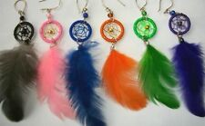 SALE LOT 60 DREAM CATCHER FEATHER EARRINGS PERU ALPACA