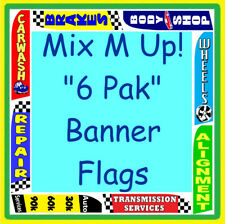 AUTO REPAIR CAR LOTS 6 PAK FLAGS Feather Swooper Banner