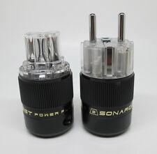 SONAR QUEST CRYO Audio Grade Rhodium plated IEC plug + Schuko plug sonarquest