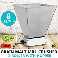 2 Roller Homebrew Barley Grinder Crusher Malt Grain Mill for Home brewing