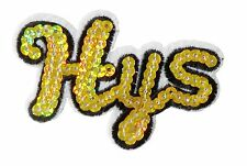 Hys Iron Patch Sew Embroidered Sequins Badge Cloth Sequin Motif Patches  #22