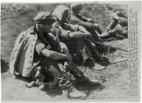 Deutsche Kriegsgefangene. Orig. US-Presse-Wirephoto, von 1944