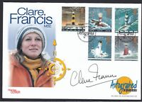 Clare Francis MBE Novelist Yachtswoman Signed Autograph 1998 Stamp Cover