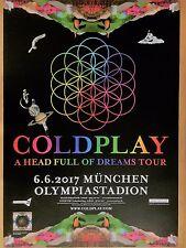 COLDPLAY  2017  MÜNCHEN  - orig.Concert Poster -- Konzert Plakat  A1 NEU