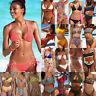 Femme Floral Maillot de Bain Renfort Ensemble Bikini Taille Haute Vêtement Plage