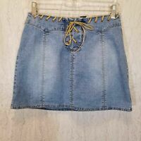 RALPH LAUREN BLUE LABEL denim western blue jean pencil skirt junior/'s sz.7