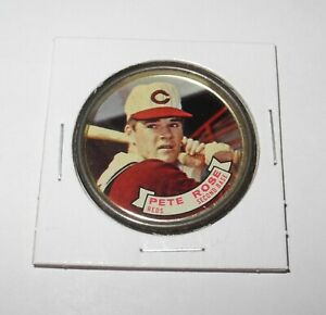 1964 Topps Baseball Coin Pin #82 Pete Rose Cincinnati Reds Very Good