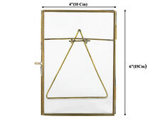 """Antique  Photo Frames With Stand  Glass and Brass 4x6"""" Wedding /Birthday Gift"""