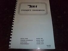BSA OWNERS HANDBOOK PHOTOCOPY A50 A65L A65FS & A65T 1970 USA EDITION - BH52