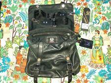 Vintage Unisex Belstaff KIP Bag Shoulder/Crossbody Messenger Leather Bag~Black