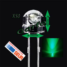 50X Diodo LED 5x5 mm Verde 2 Pin alta luminosidad