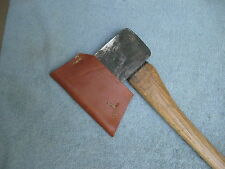 Vintage Craftsman Axe with Leather Cover - Camping Hunting Fishing Hatchet Canoe