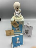 Precious Moments I Believe In Miracles #E-7156R 1987 Collectible Boy Bird Figure