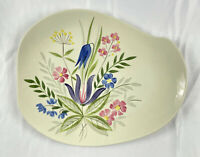 "Red Wing Hand Painted ""Country Garden"" Vintage China 15"" Inch Platter Tray"