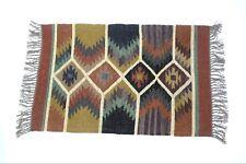 Handwoven Floor Kilim Rugs  2x3 Jute Area Rug Hand loomed Rustic Jute DoorS mats