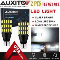 2X 921 912 T15 Backup Reverse Light 54CHIP Canbus 6000k LED White Bulb 2000LM EA