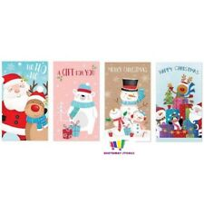 4 ASSORTED CHRISTMAS CUTE MONEY ENVELOPES GIFT CARD VOUCHER WALLET XMAS BARGAIN