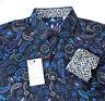 Robert Graham Paisley Floral Geometric Colorful Print L Jacquard Shirts
