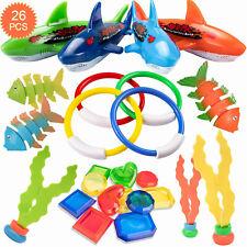 Swimming Pool Diving Toys 26 Pc Underwater Rings Toypedo Octopus Diving set