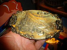 Ancien Cendrier en Régul Art Déco Souvenir de Pelerinage à Lourdes