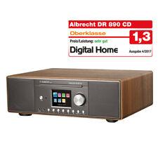 ALBRECHT DR 890 CD, DAB+/UKW/Internet-radio  walnuß, Holzgehäuse