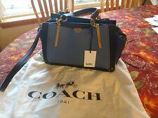 Coach 1941 2018 Runway Dreamer 27 Glove-Tanned Leather Satchel Bag - Blue NWT