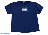 Men's PELAGIC Blue Double Sided Logo T-Shirt Top Short Sleeve Size Extra Large