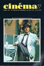 Cinema 77  N°219   Mars 1977 straub-huillet Dirk bogarde