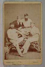 1870s CRICKET LEGEND W G GRACE ALBUMEN CDV PHOTOGRAPH - GREATEST EVER CRICKETER
