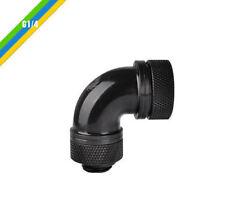 Thermaltake G1/4 PETG Tube 90Deg Compression Fitting 5/in (OD), CL-W097-CA00BL-A