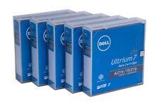 5 X Dell Lto-7 Backup Data Tape Cartridge 6.0tb / 15.0tb Lto7