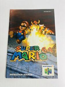 Nintendo 64 N64 Super Mario 64 Manual ONLY