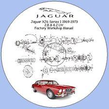 Jaguar XJ6 Series 1 1969-1973 2.8 ltr & 4.2 ltr Factory Workshop Manual