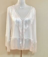 Fringed Calypso Relpa Accented Top With Tags. Size Large.