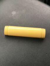 w Ridged Edges Pin Brooch – 2.25 Vintage Pale Yellow Plastic Bakelite Curved Bar