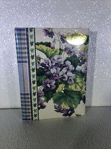 "VTG waverly garden room Photo album ( holds 100 4""x6"" Photos )-floral"