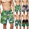 Mens Hawaii Quick Dry Swimming Shorts 3D Print Surf Board Pant Summer Beachwear