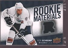 ROB SCHREMP 2007-08 UD UPPER DECK ROOKIE JERSEY PATCH RC SP OILERS $15
