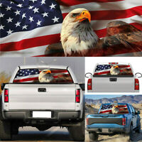 USA American Flag Eagle Car Rear Window Graphic Decal Sticker Truck Van SUV PVC