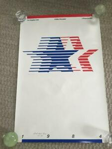 Authentic VTG 1984 23rd Olympic Games Robert Miles Runyan Autographed Poster