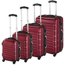 TecTake 402025 Set de 4 valises - Gris Taille S, M, L, XL