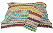 MISSONIHOME TWO OXFORD PILLOW CASES COTTON SATEEN STANDARD SIZE RUDOLPH 100