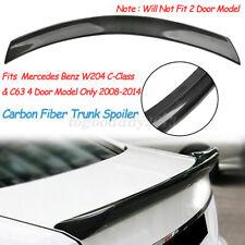 For Mercedes Benz W204 C250 C300 C63 Carbon Fiber V Style Duckbill Trunk Spoiler